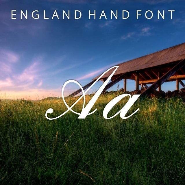 #cursive #fonts #download - England Hand Font  by DATA BECKER GmbH: England Hand is a free typeface that was developed by the great DATA BECKER GmbH. Versatile ligatures makes it perfect for leaflets, product labels, merchandising and branding. It should be noted that it comes in a truetype file format. #font #typography #design #inspiration via @thefontex