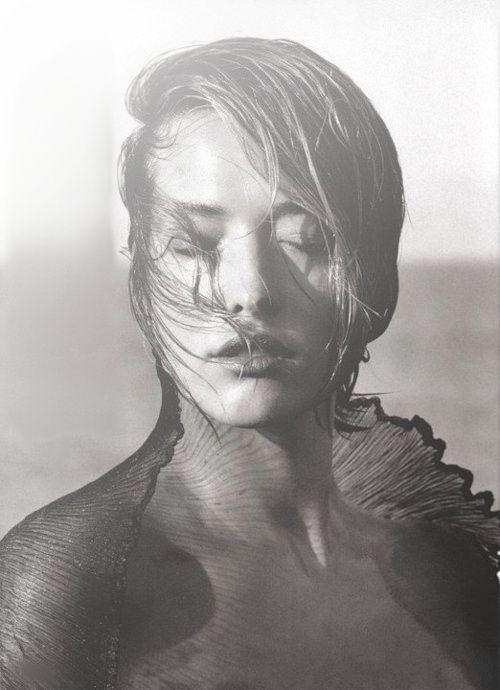 Tatjana Patitz photographed by Herb Ritts.