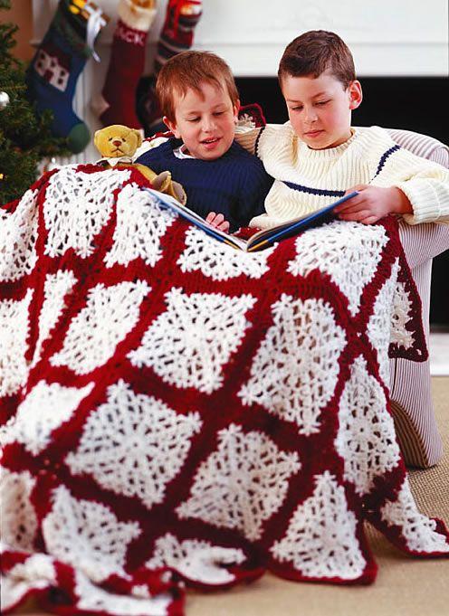 peppermint crochet afghan | Crochet Snowflake Afghan | Crochet EmpireCrochet Empire