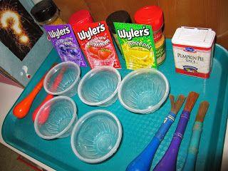 five senses: smell preschool art project