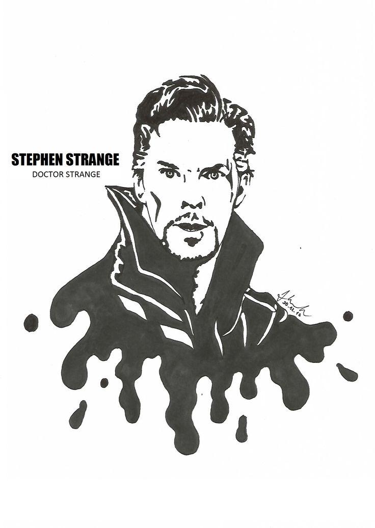 #stephen #strange #doctor #strange #benedict #cumberbatch #drawing #blackandwhite #marvel #doctorstrange