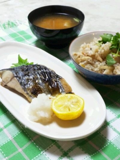鰆の塩焼きとエリンギの炊き込みご飯 by あっちゃん さん | レシピ ...