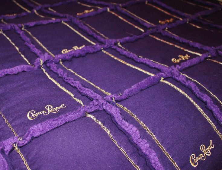 Custom order Queen size Crown Royal Rag Quilt.