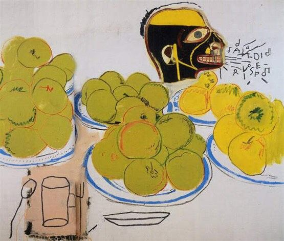apples and lemons by jean-michel basquiat and andy warhol