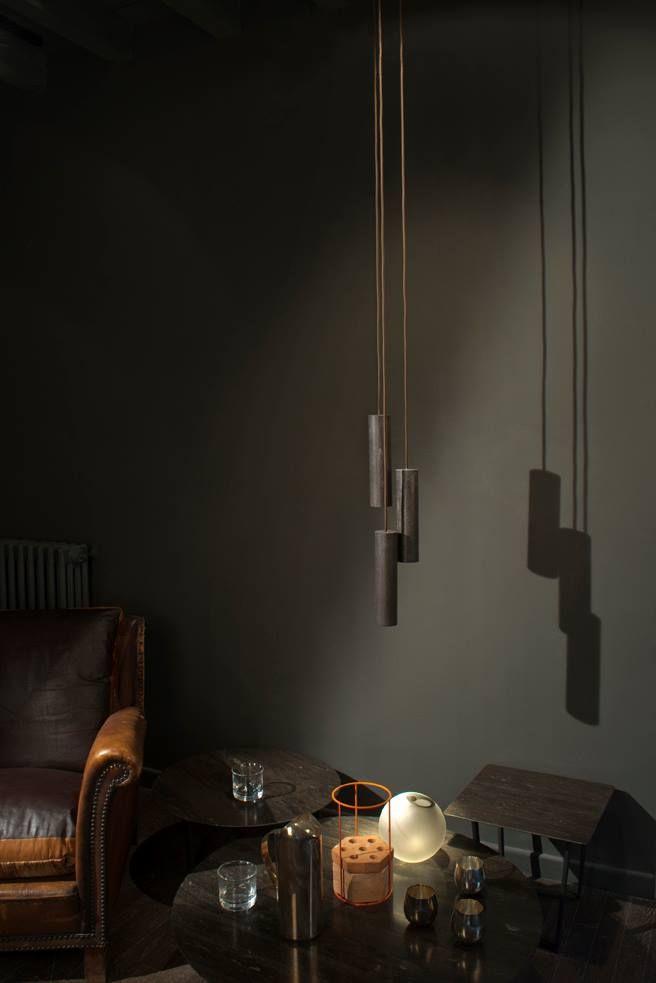Silo Marble Lamp by Salvatori, in Pietra D'avola