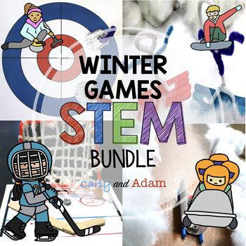 Engage students with Winter Games STEM! Students learn about the winter sports, build games, and compete in their own Winter STEM Games! This excellent engaging activity will be a big hit! This activity helps students develop critical thinking and engineering skills.