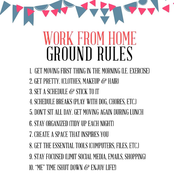 Work from home tips :)