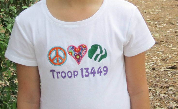 20 best images about girl scout shirts on pinterest girl for Girl scout troop shirts