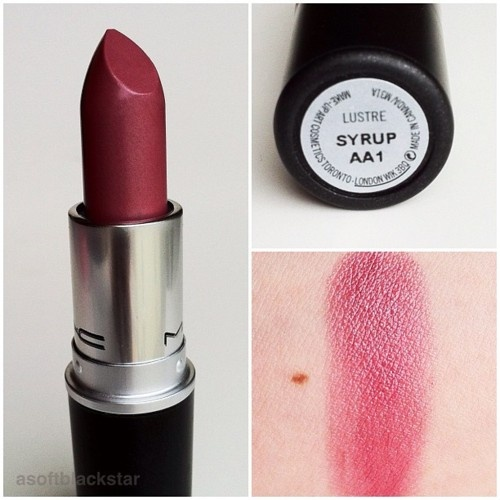 MAC Syrup lipstick my all time fav lipstick paired with spice lip liner my go to winter and Autumn lip look ;)