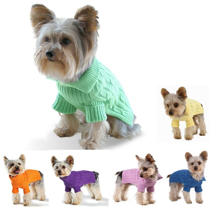Free Knitting Patterns For Very Small Dogs : Dog Sweater Knitting Pattern For Small Dogs Stitch in ...
