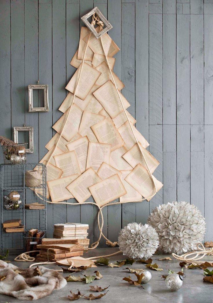 Alternative Christmas Tree - book page tree