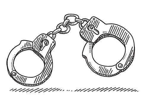 Handcuffs Symbol Drawing