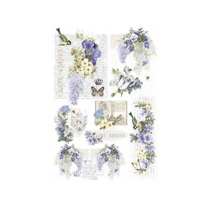 Papel de arroz - Love Garden - 50x35 - Tienda online Pinturas Sanguino