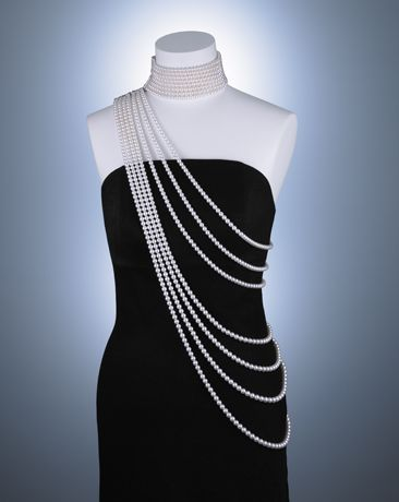 Mikimoto... A princess-inspired necklace features 1,490 akoya pearls ranging in size from 6.5 mm to 9.5 mm; $350,000