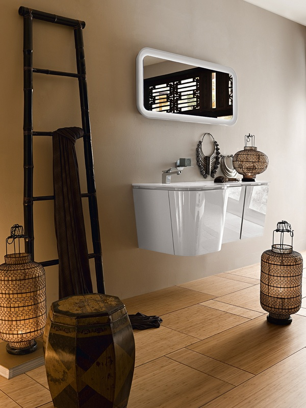 Wall-mounted washbasin unit SUEDE 13 by Cerasa   #design #interiors #wood #stair #lamp #lantern #suede #cerasa #bagno #bath #bagno #bathroom #arredo #arredamento #arredobagno #lavabo