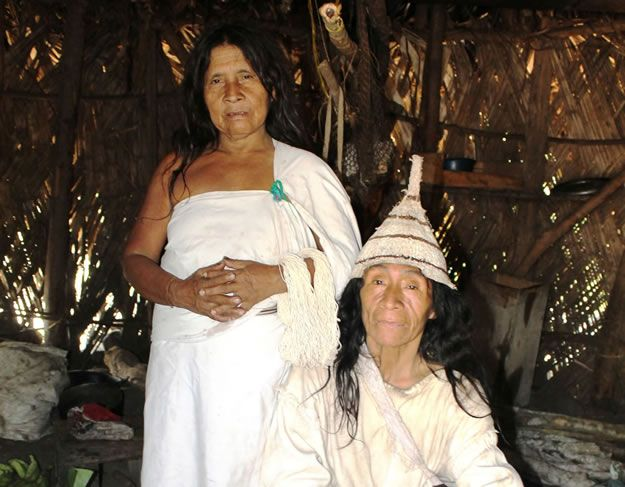 Salé Salabata, 80, a traditional Kogui Mama, or shaman, and his wife Jaba Maria.