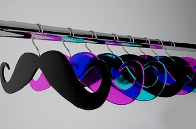 I want a bunch of multicolored lucite or acrylic hangers!!!