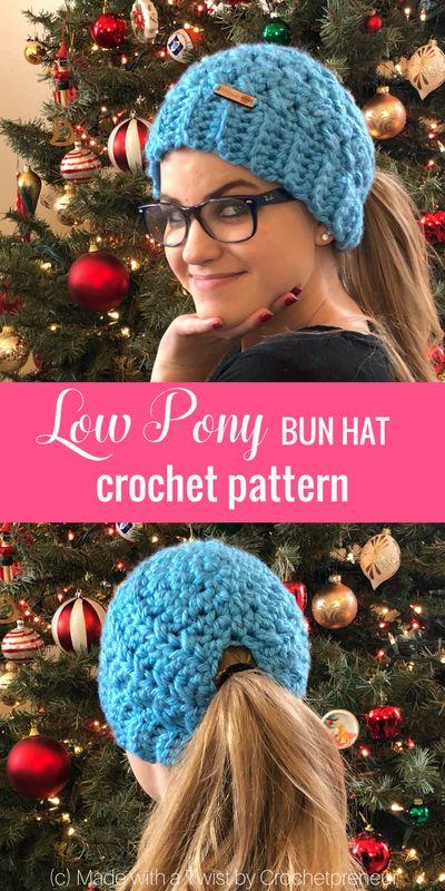 The new low pony bun hat
