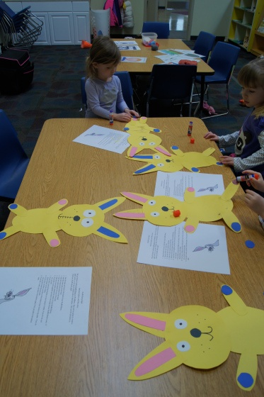 Knuffle Bunny Glyph.  Use with Mo Willems author study.