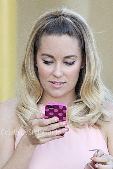 Seen on Celebrity Style Guide: Lauren Conrad carried this Pink Apple iphone case while at a photoshoot in Los Angeles February 14.....Get It Here: http://rstyle.me/n/fjkqnmxbn