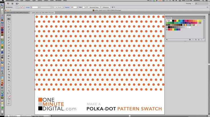 Make Polka Dot Patterns in Illustrator CS6