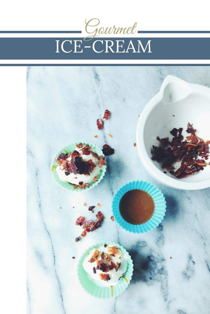 Dulce de Leche, Fior di Latte Gelato & Glazed Pancetta Cups | Icecream by Gourmet Project