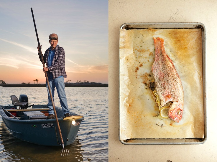 I'm a sucker for a sunset and a whole fish as my Food Porn board proves. How pretty is that Redneck Riviera sky and that red snapper?