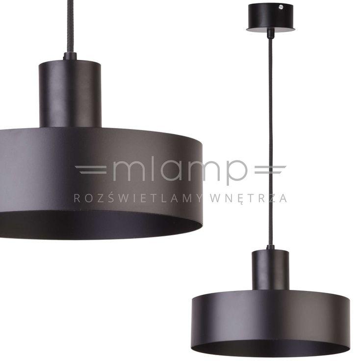 Zwieszana LAMPA metalowa SIG 30896 okrągła OPRAWA zwis czarny