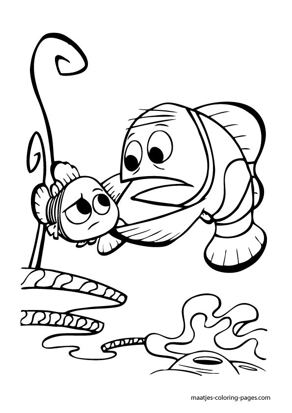 nemo coloring pages images google | 56 best Nemo Coloring Pages images on Pinterest | Coloring ...