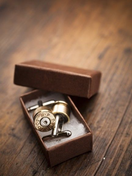 Bullet Cufflinks for BourbonandBoots.com  must have for the man in my life
