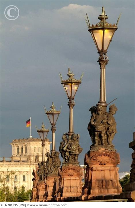 Germany, Berlin, Moltke Bridge lamp