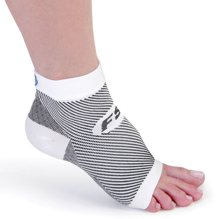 The Plantar Fasciitis Relieving Foot Sleeve - This foot sleeve compresses the ankle and foot to help combat the painful symptoms of plantar fasciitis. It can be worn when sleeping to reduce morning heel pain or during the day under socks for continuous support.