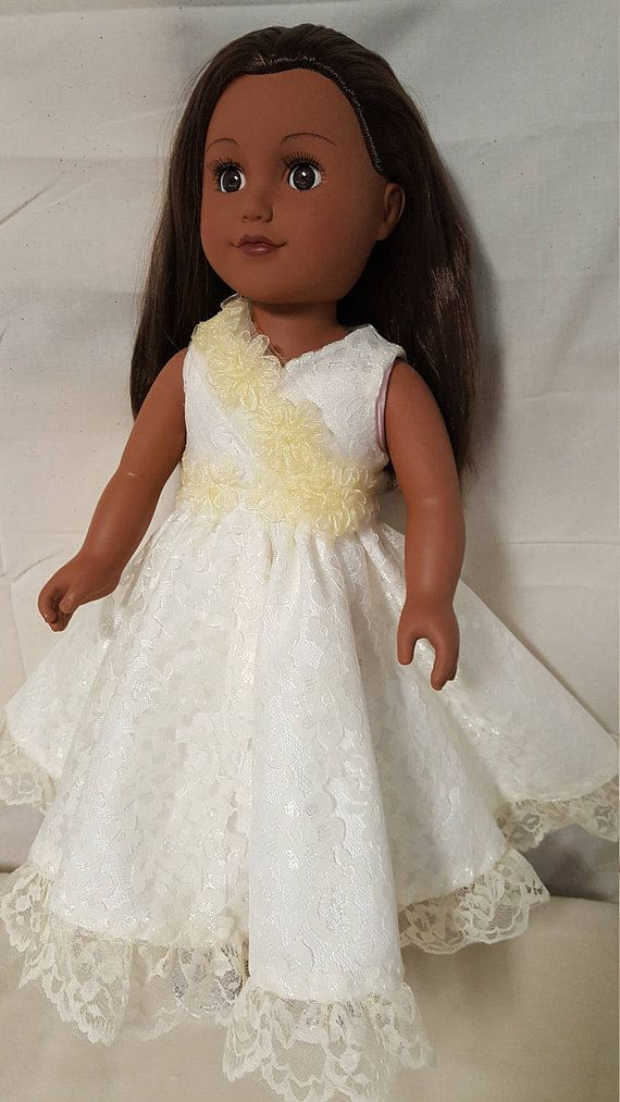 Purchase this beautifully handmade doll dress inspired by USA First Lady Michelle Obamas 2009 Inaugural gown! Its made from satin and lace fabrics designed to fit 18 dolls like American Girl, Springfield, My Life as, Our Generation or similar dolls. HISTORYWEARZ doll clothes are designed to fit 18 dolls like American Girl, Springfield, My Life as, Our Generation or similar dolls. >>>PLEASE NOTE - HISTORYWEARZ MODEL DOLL SHOWN ABOVE IS NOT INCLUDED IN THIS SALE...DRESS ONLY) Many of ...