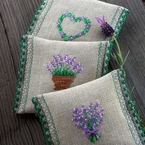 Dream of Provence - lavender sachets | Bela Stitches | Flickr