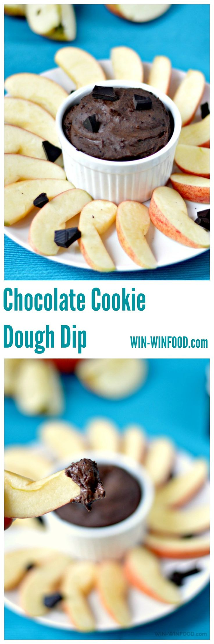Chocolate Cookie Dough Dip | WIN-WINFOOD.com  No one will believe this chocolate cookie dough dip is actually healthy and the secret ingredient will knock everyone's socks off. #healthy #glutenfree #vegan #oilfree #sugarfree #protein
