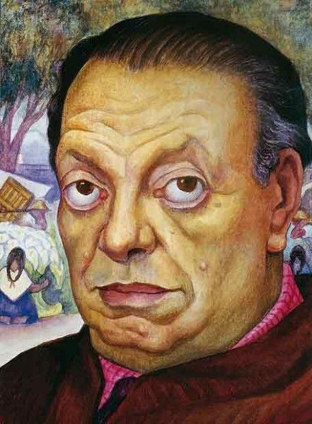 diego rivera / some people have this unfortunate 'eye bulging 'condition = At least it makes them memorable and in this case adds interest to the portrait for observers ✔️