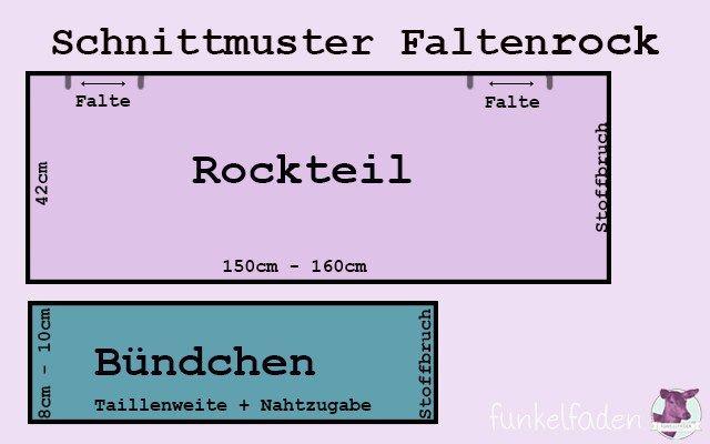 Schnittmuster Faltenrock
