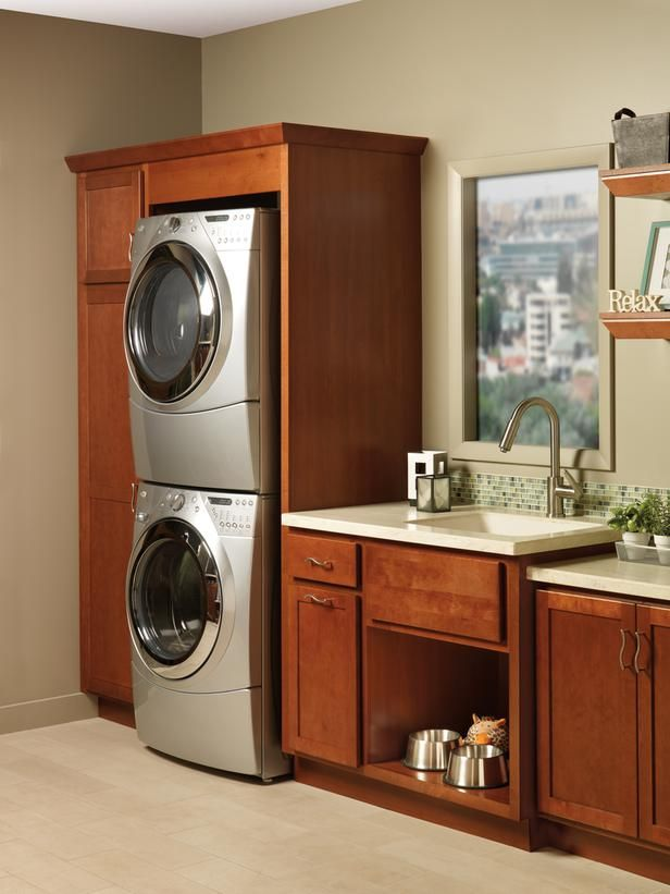 How to Maximize Space in the Laundry Room >> http://blog.hgtvremodels.com/2013/04/15/boost-your-small-laundry-space/?soc=pinterest