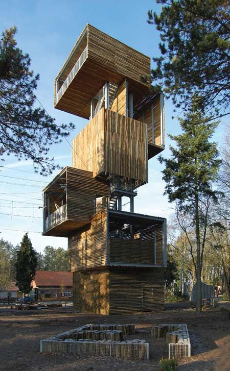 Dutch architects Ateliereen Architecten completed a 25 metre tall viewing tower…