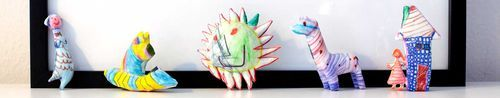 Turn your children's art into 3-D resin sculptures! What a cute idea! <3