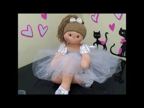 Como hacer una muñeca bailarina de tela | DIY - PatronesMil