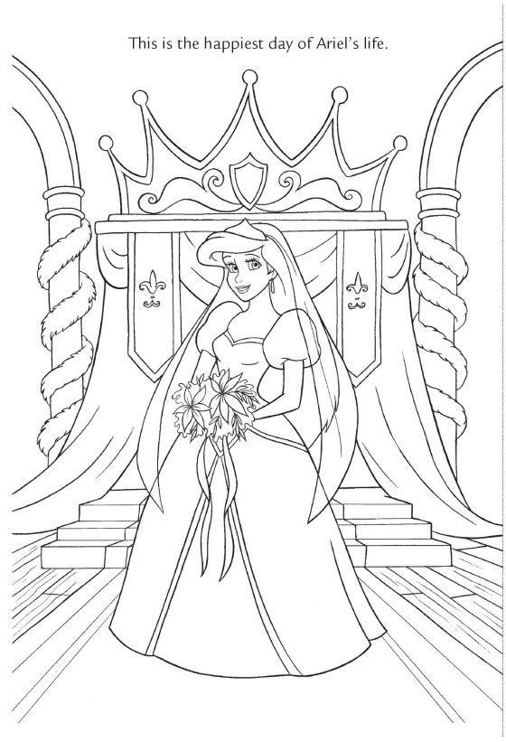 Walt Disney Coloring Pages Princess Ariel