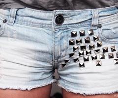 DIY shorts, studs!