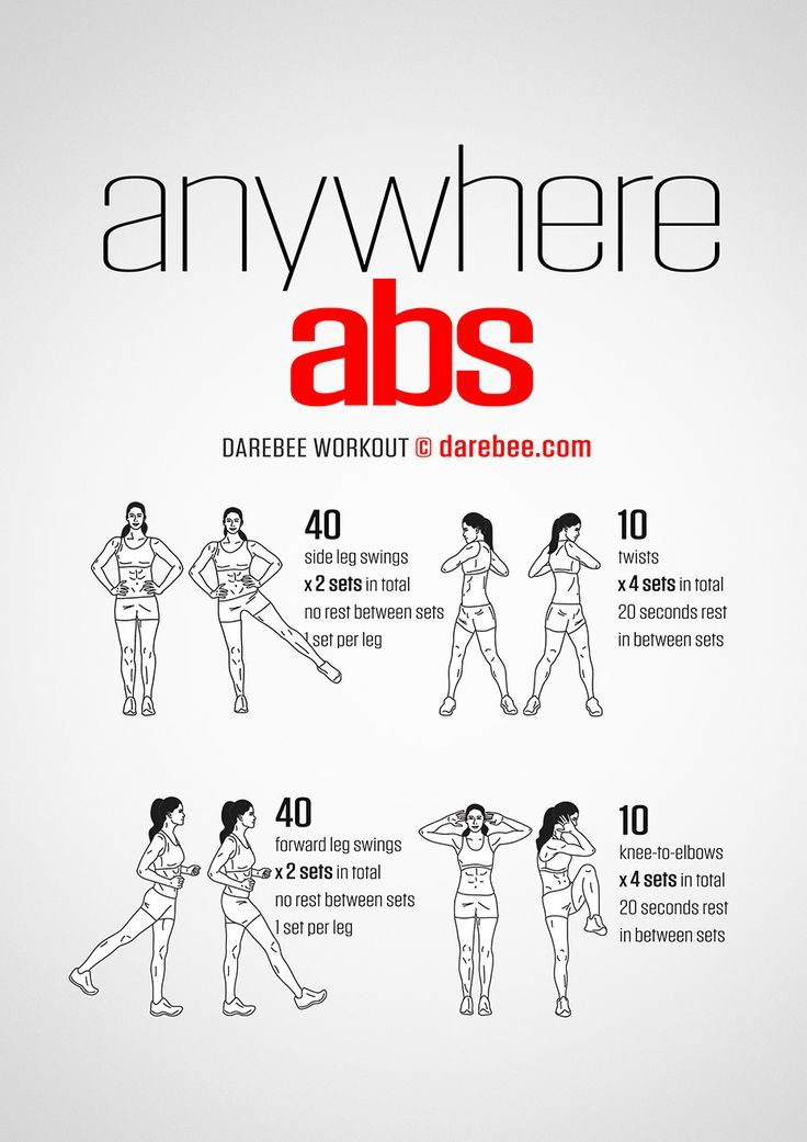 Anywhere Abs Workout by DAREBEE #darebee #workout #fitness #abs