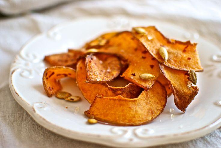 Chips de calabaza / Pumpkin chips #Recetas Hojiblanca #Saludables https://www.facebook.com/Hojiblanca