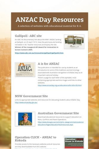 ANZAC Day Resources on Smore by Laura Chaffey