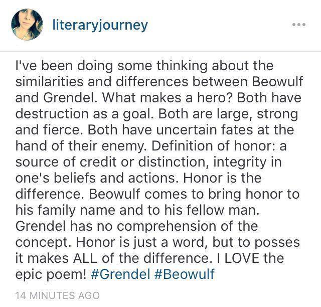 an analysis of grendel the main antagonist in beowulf De monstro: an anatomy of grendel by  villains the poet could have chosen as his main antagonists,  the three main monsters in beowulf.