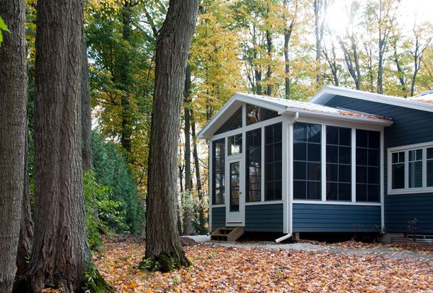 Black Creek Ravine House - Around the side of the house is a spacious, screen-in porch nestled in the trees.