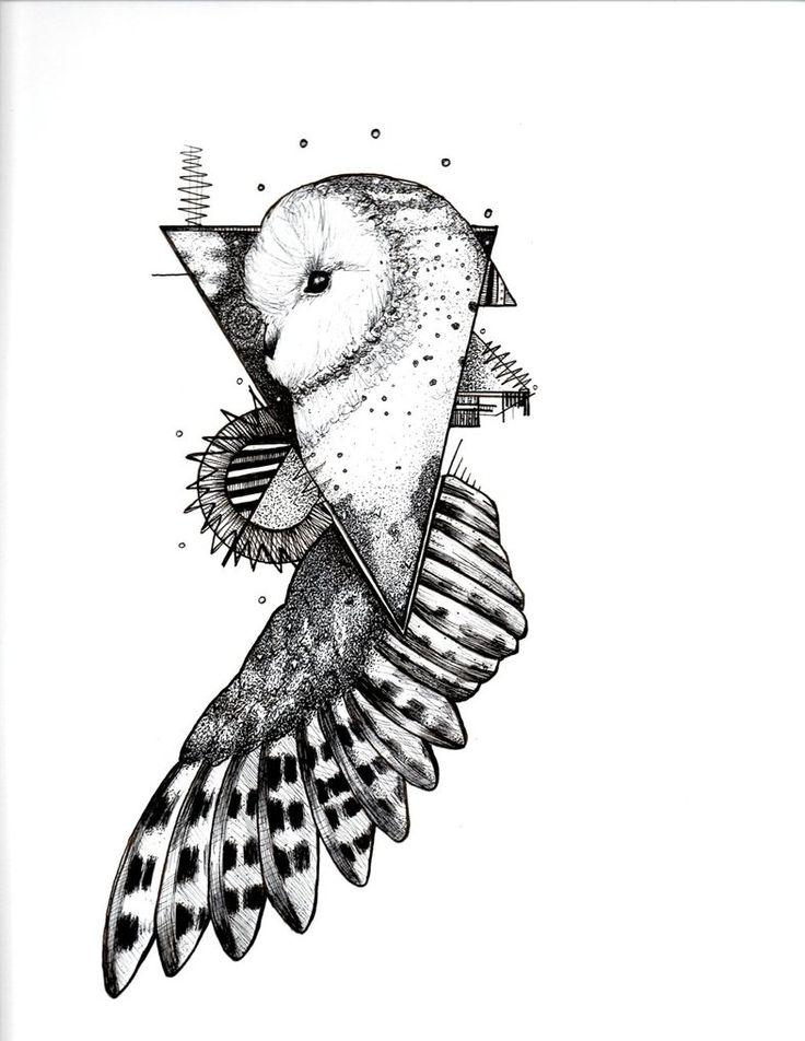 Ink Owl Tattoo Design by DrewBConyers