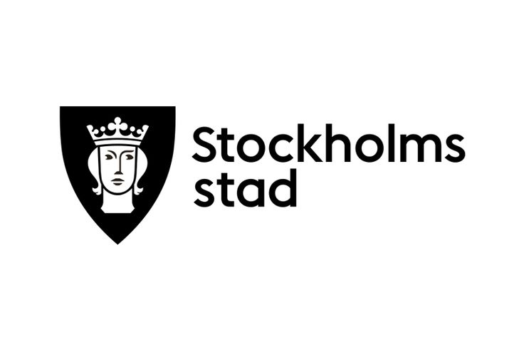 Stockholms Stad Logo Design Rebranded in 2013, the City of Stockholm introduced a revised identity with a custom-made typeface to sit aside St. Erik – the patron of Stockholm. The brand as a whole is incredibly refreshing in its contemporary design, but the portrait logomark works so well in the range of colours within the vibrant palette.